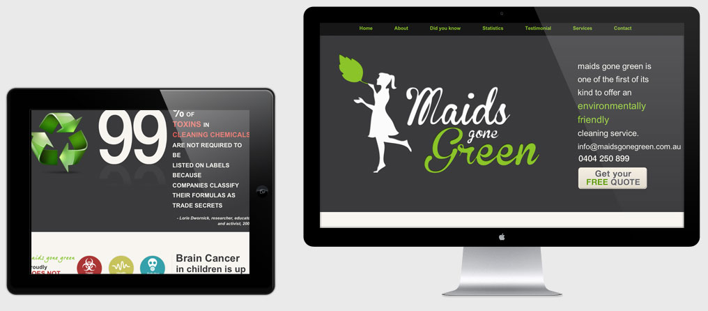 Maids gone green multiple screens